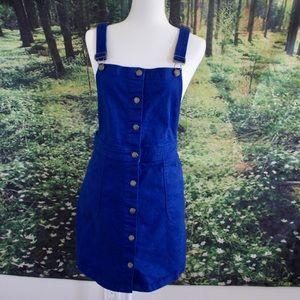 Blue overall denim dress